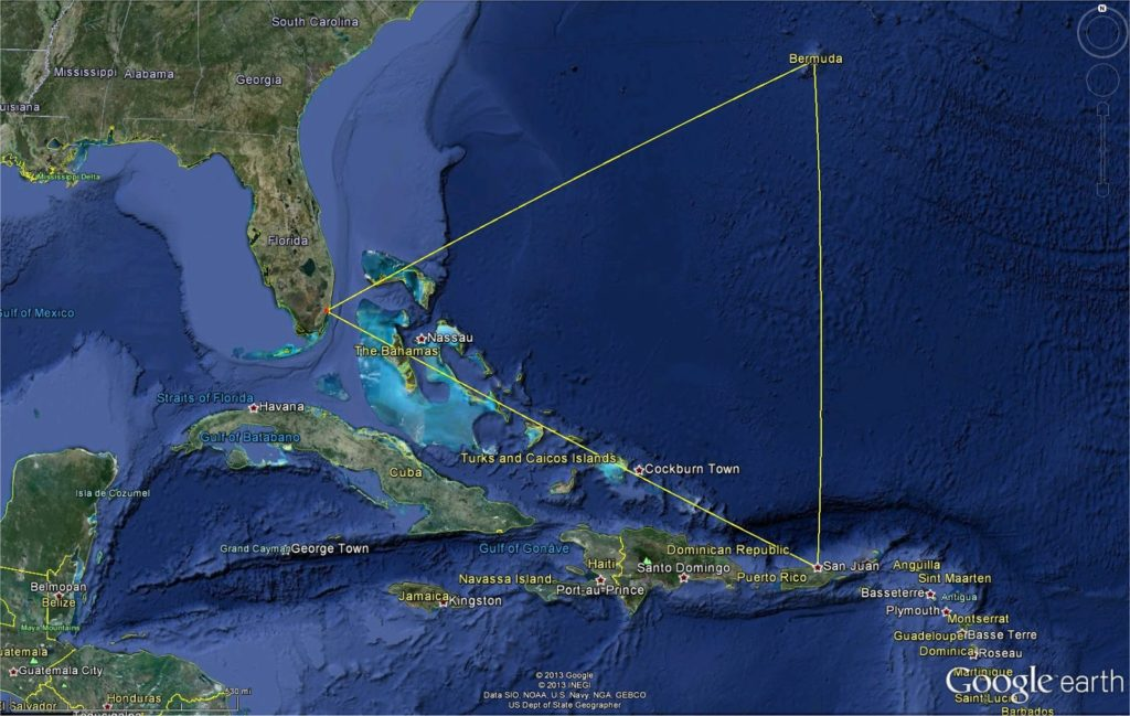 Bermuda Triangle - the mystery and strangest places in the world